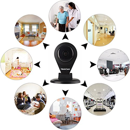 HawkCam Pro Home Security Camera Wireless, Nanny Cam - Audio, FalconWatch HD WiFi Motion Activated,! Burglar Deterrent Cam USB, DIY Indoor Cameras Watch Live Most Device