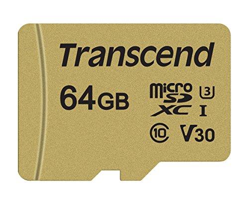 Transcend 64GB MicroSDXC/SDHC 500S Memory Card TS64GUSD500S