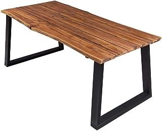 vidaXL Bois d'Acacia Massif Table de Salle à Manger Table à Dîner Table de Cuisine Table de Repas Meuble de Cuisine Maison...