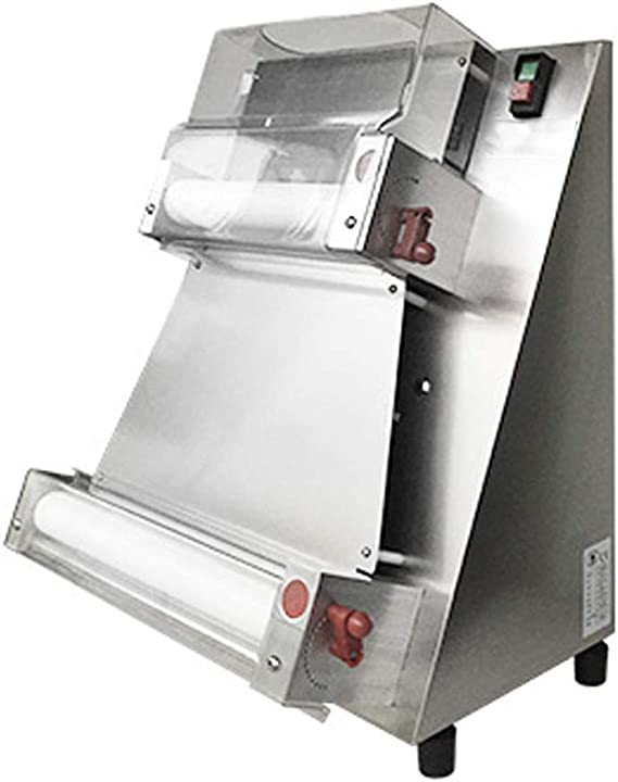 Enshey 370w Automatic Pizza Dough Roller Sheeter Machine Pizza Press Machine 3''-16'' Dough Pressing Machine Electric Bakery Large Pasta Maker Machine Food Preparation Equipment