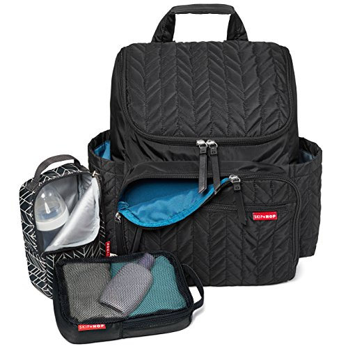 Skip Hop Forma Diaper Bag Backpack, Soft Multi-Function Baby Travel Bag with Changing Pad & Packing Cubes