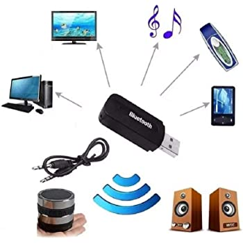 Techgadget Wireless USB Bluetooth Receiver Adapter Dongle for Home Theatre  Car Speakers MP10 (N-10)