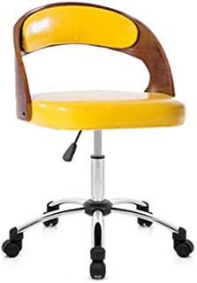 Chair 椅子 Swivel chair back solid wood rotating pulley office meeting room (Color : 4),Colour:4 (Color : 4)