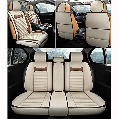 Preisvergleich Produktbild ZMCOV Autositzbezüge Atmungsaktiv,  Vorne Und Hinten Hochwertiges Flachs Comfort Protector Cushion,  Kompatibel Mit Mazda Mazda3, Mazda6, CX-3, CX-30, CX-5, CX-7, Beige, Standard