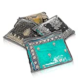Fineway Pack of 20 Clear Saree Clothes Garment Sari Storage Bags Wardrobe Organiser Grey