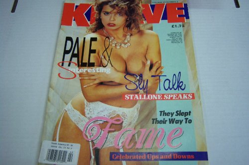 Knave Busty Adult Magazine 'Sly Talk, Stallone Speaks, and They Slept Their Way to Fame' Vol.23 #2 1991
