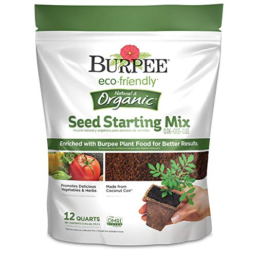 Burpee Organic Eco Friendly 12 Qt Seed Starting Mix 0.06-0.03-0.03