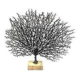 Baoblaze Korallen Baum Zweig Dekorative Skulptur für Schlafzimmer Wohnzimmer Tischplatten, Arbeitsplatten - Schwarz