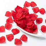 2000 pezzi di Petali di Rosa rossa, Petali di fiori di seta artificiale, Petali di Rosa finti Decorazione Romantica per Matrimonio Festa di Compleanno Proposta di Matrimonio, Rosso