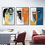 Picasso Caras Famosas Lienzo Abstracto Pintura Cartel Impresiones escandinavia...