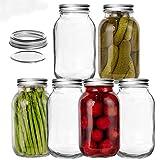 Best Mason Jars - LEQEE Mason Jars 32 oz (1 Quart) Review