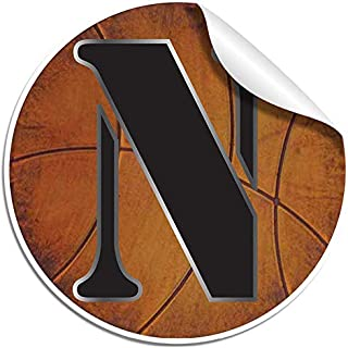 Bugs-n-Blooms Wall Decals Letter n Basketball Baby Name Decal Stickers Decorative Letter Alphabet Sports Decor - Children's Room, Baby's Nursery, Boy's Bedroom, Kid's Playroom