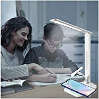 Natusukawa Dimmable Multifunctional LED Desk Lamp with Wireless Charger