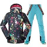 GSOU SNOW Womens Ski Snow Suit Warm Winter Waterproof Snowboard Jacket Women's Snowsuit Windproof Ski Jacket Suit