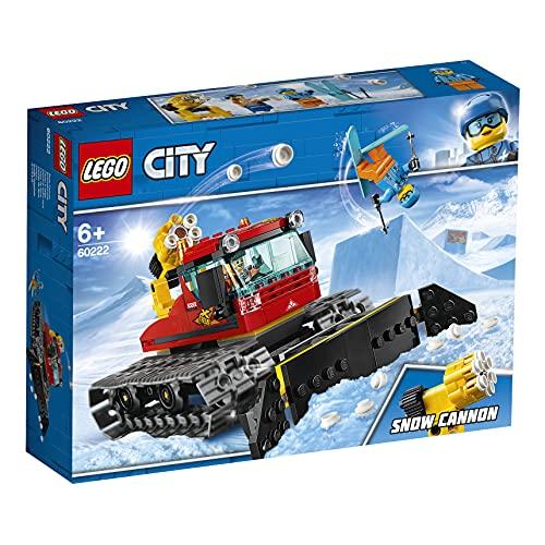 LEGO 60222 City Pistenraupe, Bauspielzeug mit 2 Minifiguren, Winter-Sets für Kinder