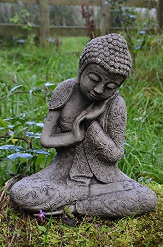 ONEFOLD - RESTING WELSH BUDDHA CAST STONE GARDEN ORNAMENT/STATUE/SCULPTURE