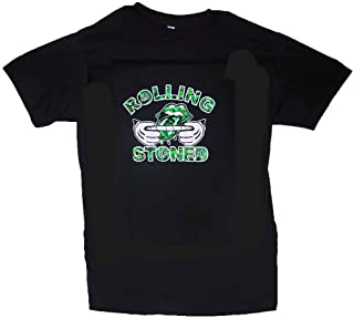 Rolling Stoned Weed Cannabis Marijuana Cotton T-Shirts Men's Size M-XXLarge (Marts103 Z)