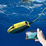 Visual Underwater Drone Mini RC Model Submarines HD Photo Camera Remote Control Ship Robot to Detect Fish High-Tech Toy Yellow