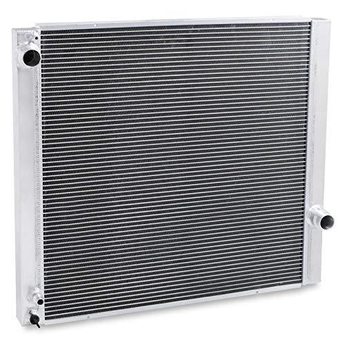 Radiador de enfriamiento de motor de doble núcleo de aluminio de alto flujo
