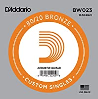 D'Addario ダダリオ アコースティックギター用バラ弦 80/20ブロンズ .023 BW023 【国内正規品】