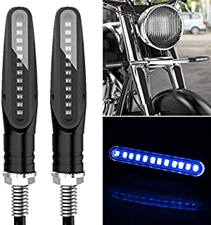 2PCS D12V / 1W Motorcycle LED Waterproof Dynamic Blinker Side Lights Flowing Water Turn Signal Light High Quality (Color :...