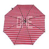 Diseño automático ligero compacto portátil del paraguas del viaje de los puntos rojos y alta resistencia del viento