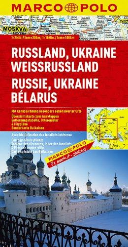Russland/Ukraine/Weißrussland 1:2 Mio./1:10 Mio. (MARCO POLO Länderkarten)