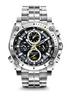Bulova's Precisionist Collection is a complex work of art, with precise timing to 1/1000th of a second and continuous-sweep second hand. Powered by Bulova's unique three-prong crystal Precisionist movement with a 262 kHz vibrational frequency—eight t...