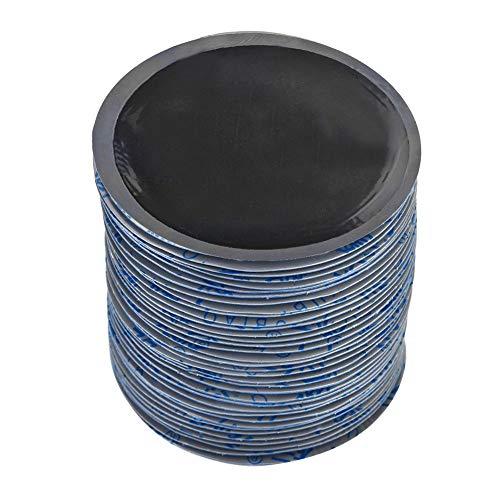 EBTOOLS 36Pcs Parche de Reparación de Neumáticos, Parches de Punción de Neumáticos de Caucho Natural Redondos para Automóviles,80 mm