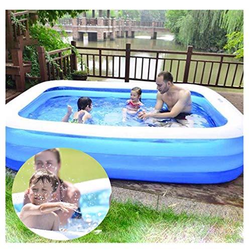MAYI Paddling, Familia, Jardines Natación para Niños, Verano Agua Jugando Centro Adulto Niños RectangularFun Juegos de Agua (110x83x33cm) 181X141x46cm