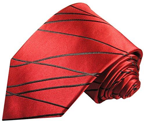 Rotes Krawatten Set 2tlg 100{870814ef3304a1532dba71da590ba95921d9178b95a0e43eba905f2c510b21ac} Seidenkrawatte mit Einstecktuch