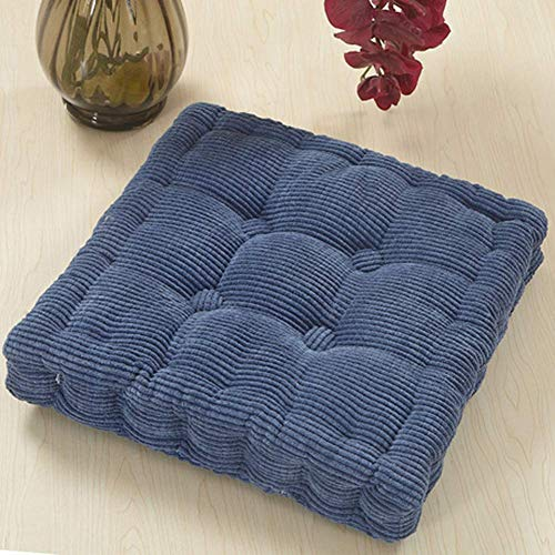 Square Chair Pad Seat Cushion Pads Pearl Cotton Filled Back Pillow Soft Touch Supportive Armchair Booster Cushions Velvet Cover For living room, bedroom
