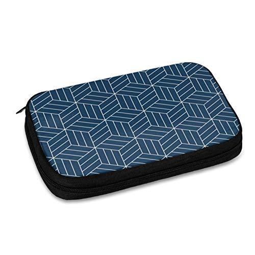 Bolsa de organización electrónica sin costuras japonesas inspiradas en patrones geométricos accesorios organizador de cables bolsa impermeable viaje bolsa de almacenamiento cables