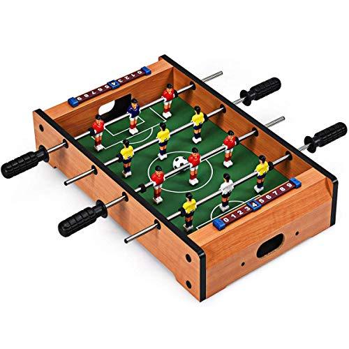 ZXYSHOP Mini Tischplatte Tischkicker Tischbillard, Indoor & Outdoor Tisch Fußball Spiel Set für Kinder (20