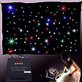 Yonntech 3x2m 108P LED Matrix Estrella telón de Fondo Cortina de luz DMX Etapa de la Boda romántica Fiesta de cumpleaños Inicio