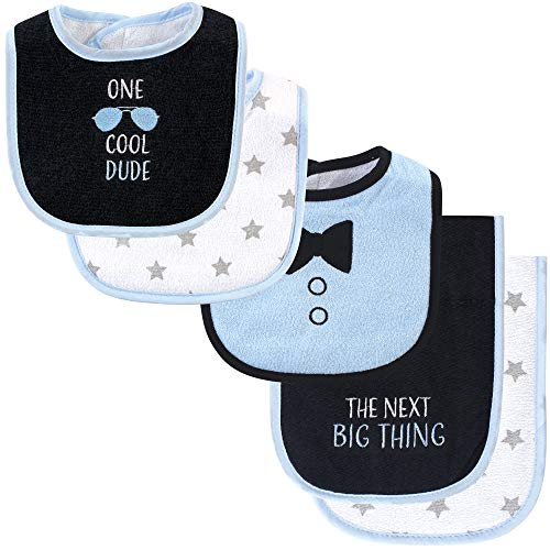 Hudson Baby Unisex Baby Cotton Terry Bib and Burp Cloth Set, One Cool Dude, One Size