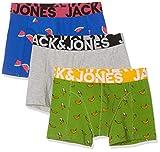 Jack & Jones Jactom Trunks 3 Pack Bóxer, Multicolor (Light Grey Melange Detail: Piquant Gree/Surf The Web), Large (Pack de 3) para Hombre