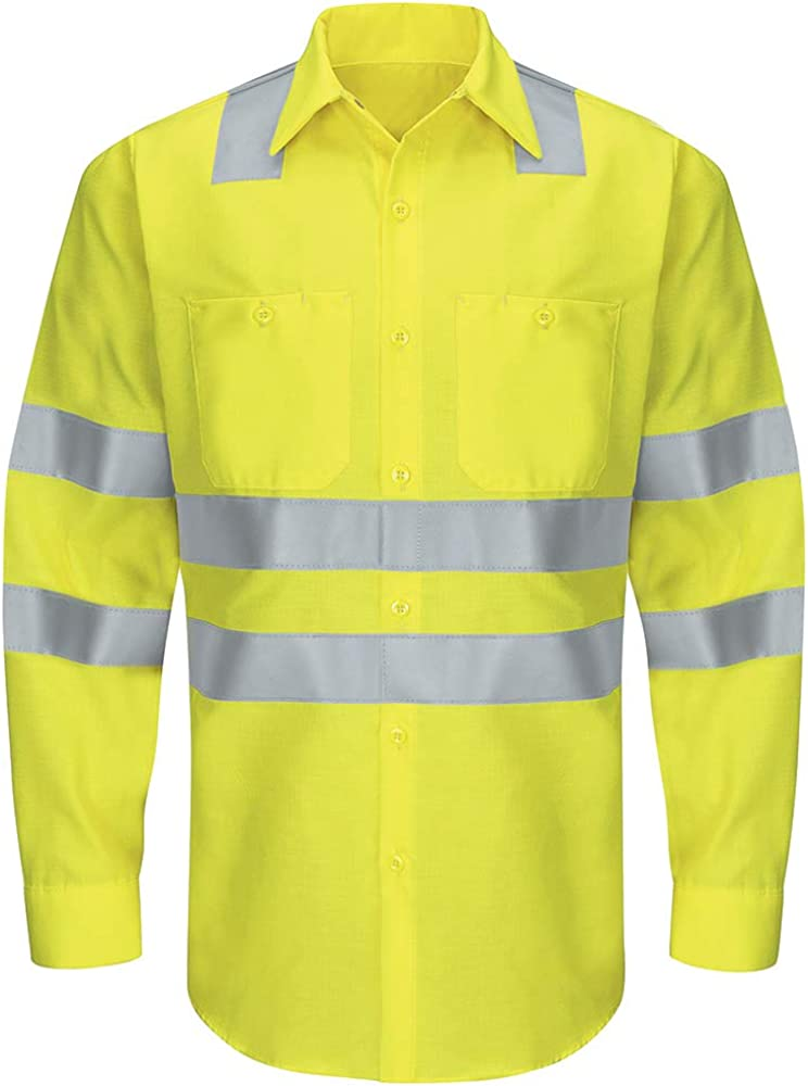 Ranking TOP20 Super-cheap Red Kap Men's Hi-vis Ls Colorblock R Ripstop Work Shirt-Type Cl