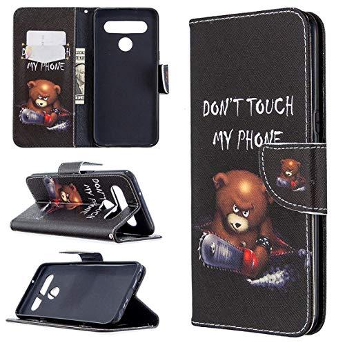 SHUYIT Handyhülle für LG K61 Hülle Leder, Bunt PU Leder Tasche Klapphülle Brieftasche Ständer Kartenfach Magnetisch Flip Hülle Cover Schutzhülle für LG K61 Handy Hüllen