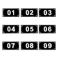 アスファルト25 PCSドア番号/ロッカー番号 粘着性タグ - ブラック - 1to25