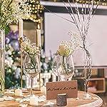 30 Set Porte carte en bois,Porte Noms de Table avec écorce de Bois,Rustique porte-menu en bois pour la décoration de bureau à domicile de fête de Noël de mariage #4