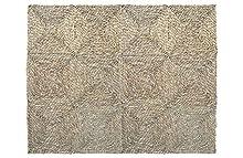 HERSIG - Alfombra Fibra Natural | Alfombra Cuadrada de Seagrass - 90 x 120 cm