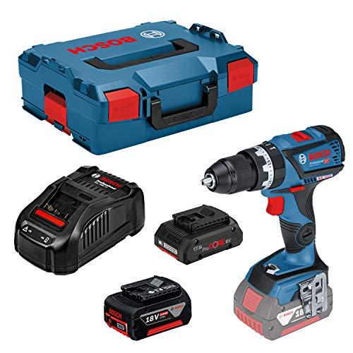 BOSCH 0615990K7N - Taladro percutor a batería GAMA DYNAMIC GSB 18V-60 C Professional 18 V. CONNECTED. MOTOR EC. Kick Back Control. ECP. EMP. 2 Velocidades