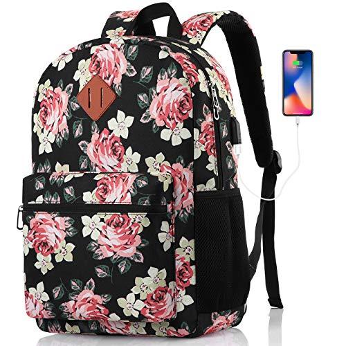 MARYARM Rucksack Damen,Schulrucksack Mädchen Teenager,Schultasche Mädchen Teenager Schulranzen Damen mit Laptopfach