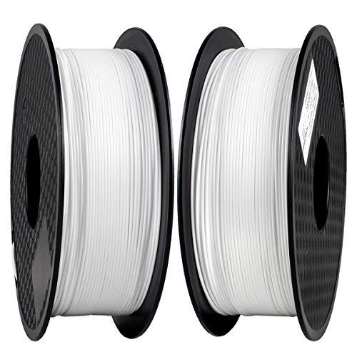 Filamento PLA 1,75 mm, GIANTARM Stampante 3D Filamento PLA 2 kg (2 Bianco)