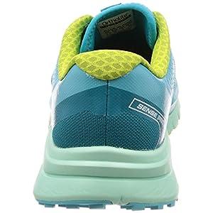 SALOMON Women's Sense Pro Max Running Trail Shoes Blue Curacao/Beach Glass/Acid Lime 10