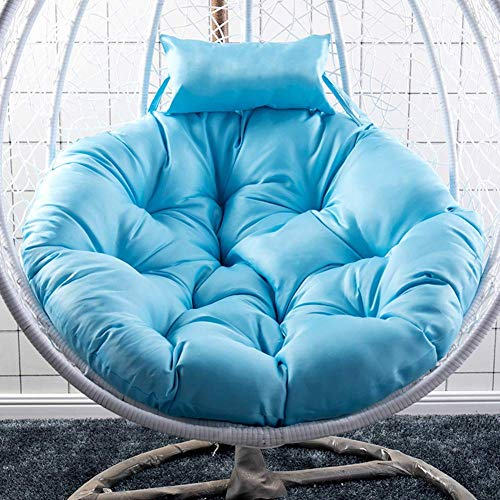 Hanging Egg Chair Cushion,swing Chair Pads Swing Chair Pad Cradle Hammock Seats Cushions Not-slip Without Stand-blue D105cm(41inch)