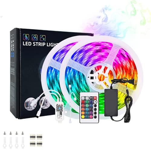 Wandskllss Tira De Luz Led 10M Cinta Multicolor Impermeable Para Dormitorio Adolescente Decoración De Pared Luz De TechoNo impermeable5m