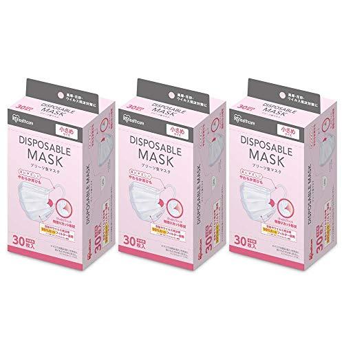 アイリスオーヤマ ディスポーザブル マスク 不織布 30枚×3個セット 小さめ 20PN-30PS