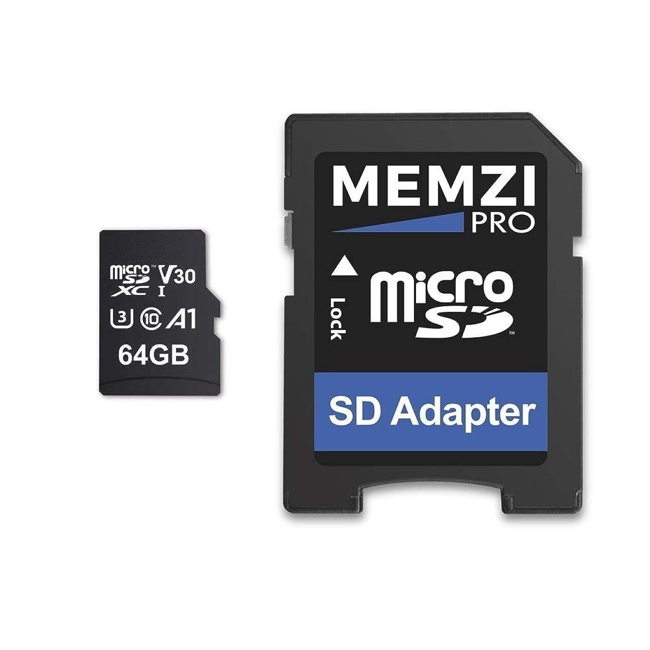 行動商品フラフープMEMZI PRO 64GB 100MB/s Class 10 U3 V30 Micro SDXC メモリーカード SDアダプター付き Sony Xperia 1/10/10 Plus XZ3/XZ2/XZ1/XZ/X Premium/Compact XZs/XZ XA2/XA1/XA Plus/Ultra L3/L2/L1携帯電話用
